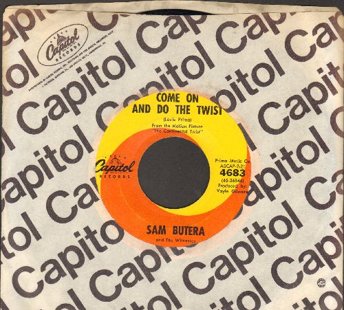 Butera, Sam - Come On And Do The Twist/Chantilly Lace (RARE Vintage Rock & Roll 2-sider!) (with Capitol company sleeve) - EX8/ - 45 rpm Records