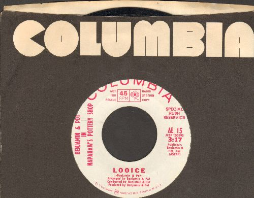 Benjamin & Pot In Napoleon's Pottery Shop - Looice/Been Dere (DJ advance pressing with Columbia company sleeve) - NM9/ - 45 rpm Records