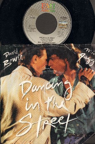 Jagger, Mick & David Bowie - Dancing In The Street (2 different versions) (with picture sleeve) - NM9/VG7 - 45 rpm Records