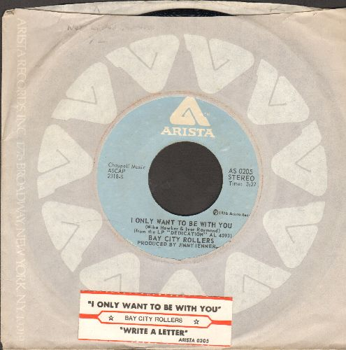 Bay City Rollers - I Only Wanna Be With You/Write A Letter (with juke box label and company sleeve) - NM9/ - 45 rpm Records