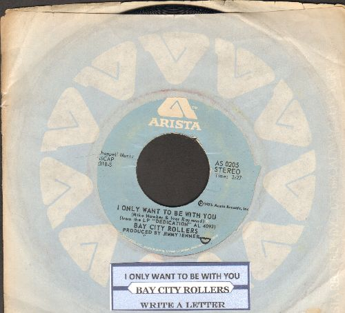 Bay City Rollers - I Only Wanna Be With You/Write A Letter (with juke box label and company sleeve) - EX8/ - 45 rpm Records
