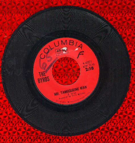 Byrds - Mr. Tambourine Man/I Knew I'd Want To (wol) - VG7/ - 45 rpm Records