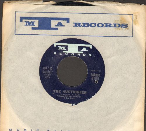 Byers, Brenda - The Auctioneer/Rainbows and Roses (with RARE original company sleeve)(bb) - NM9/ - 45 rpm Records