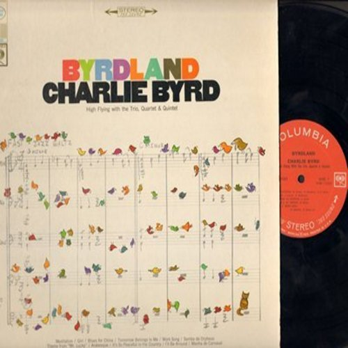 Byrd, Charlie - Byrdland: Samba De Orpheus, Blues From China, Arabesque, Manha De Carnaval (Vinyl STEREO LP record) - VG7/EX8 - LP Records