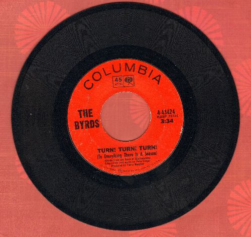 Byrds - Turn! Turn! Turn!/She Don't Care About Time - EX8/ - 45 rpm Records