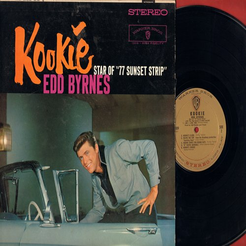 Byrnes, Edd Kookie - Kookie - Star of 77 Sunset Strip: Kookie's Mad Pad, The Kookie Cha Cha Cha, Like I Love You, You're The Top, Kookie Kookie (Lend Me Your Comb), Kookie's Clock (Vinyl LP record, RARE STEREO Pressing!) - NM9/EX8 - LP Records