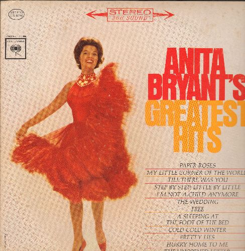 Bryant, Anita - Anita Bryant's Greatest Hits: Paper Roses, The Wedding, My Little Corner Of The World (Vinyl STEREO LP record) - M10/VG7 - LP Records