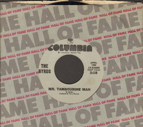 Byrds - Mr. Tambourine Man/All I Really Want To Do (double-hit re-issue with Columbia company sleeve) - EX8/ - 45 rpm Records