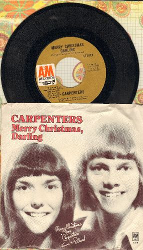 Carpenters - Merry Christmas Darling/Mr. Guder (with picture sleeve) - NM9/EX8 - 45 rpm Records