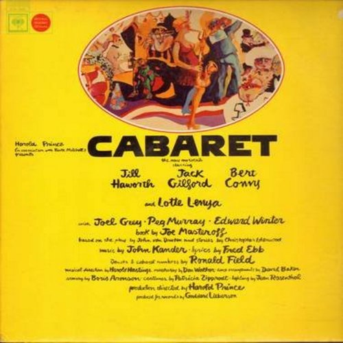 Haworth, Jill, Jack Gilford, Bert Convy, Lotte Lenya, Joel Grey - Cabaret: Original Broadway Cast Recording (Vinyl LP record) - EX8/VG7 - LP Records