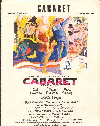 Grey, Joel - Cabaret - Vintage SHEET MUSIC for the title song of the Broadway Classic - NM9/ - Sheet Music