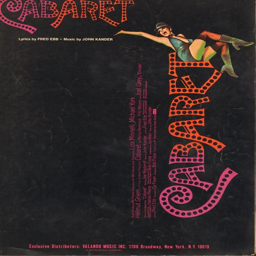 Minnelli, Liza - Cabaret - SHEET MUSIC for the title song from the film -Cabaret- made popular by Liza Minnelli  (This is SHEET MUSIC, not any other kind of media!)  - EX8/ - Sheet Music