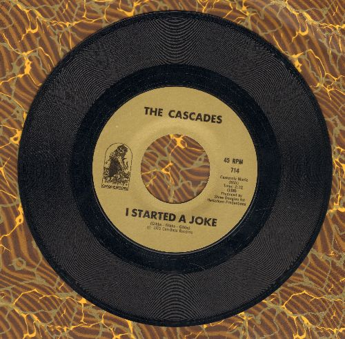Cascades - I Started A Joke (FANTASTIC cover version of the Bee Gees Hit)/Sweet America - NM9/ - 45 rpm Records