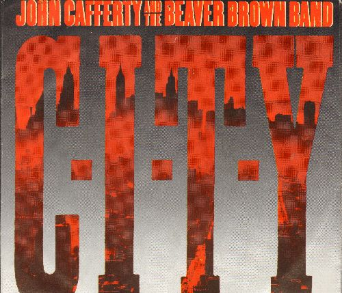 Cafferty, John & The Beaver Brown Band - C-I-T-Y/Where The Action Is (with picture sleeve and juke box label) - NM9/EX8 - 45 rpm Records