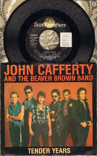 Cafferty, John & The Beaver Brown Band - Tender Years/Down On My Knees (with picture sleeve) - NM9/EX8 - 45 rpm Records