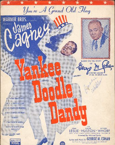 You're A Grand Old Flag - You're A Grand Old Flag - Vintage SHEET MUSIC for the George M. Cohan Classic featured in film -Yankee Doodle Dandy- (NICE cover art featuring James Cagney!) - VG7/ - Sheet Music