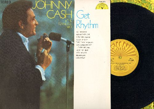 Cash, Johnny & The Tennessee Two - Get Rhythm: Sugartime, Oh Lonesome Me, Luther's Boogie, Doin' My Time, Mean Eyed Cat (Vinyl STEREO LP record, 1980s re-issue) - NM9/NM9 - LP Records