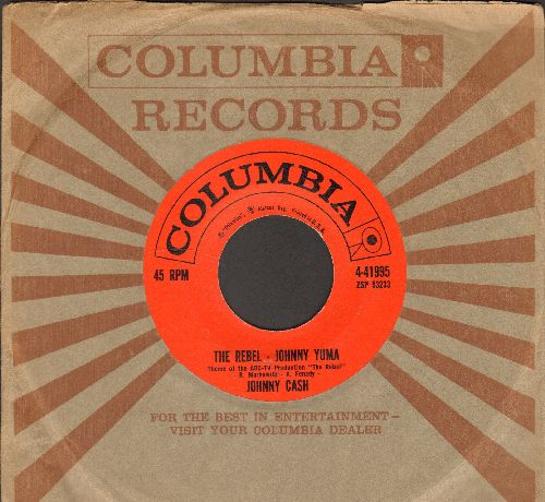 Cash, Johnny - The Rebel - Johnny Yuma/Forty Shades Of Green (with vintage Columbia company sleeve) - EX8/ - 45 rpm Records
