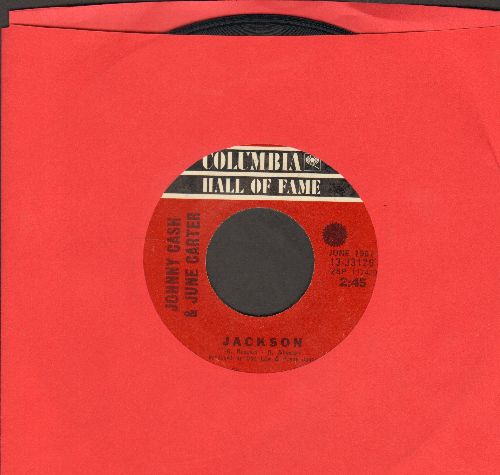 Cash, Johnny & June Carter - Jackson/Long-Legged Guitar Pickin' Man (double-hit re-issue) - EX8/ - 45 rpm Records