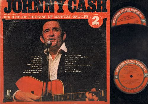 Cash, Johnny - Big Hits By The King Of Country On 2 LPs: Folsom Prison Blues, The Ways Of A Woman In Love, Don't Make Me Go, Mean Eyed Cat, Sugartime, You're The Nearest Thing To Heaven, You Tell Me, Just About Time, Port Of Lonely Hearts, Big River, Ther