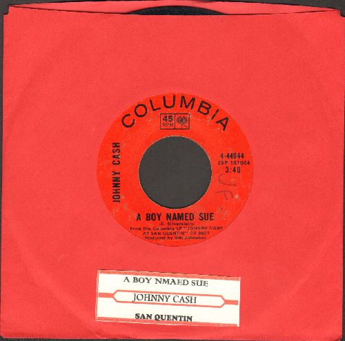 Cash, Johnny - A Boy Named Sue/San Quentin (with juke box label) - VG7/ - 45 rpm Records