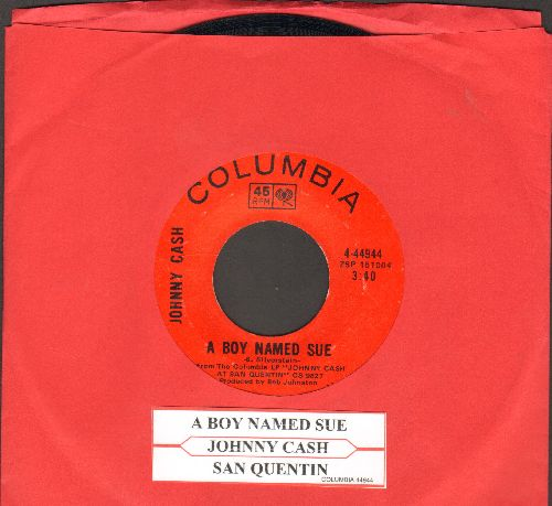 Cash, Johnny - A Boy Named Sue/San Quentin (with juke box label) - EX8/ - 45 rpm Records