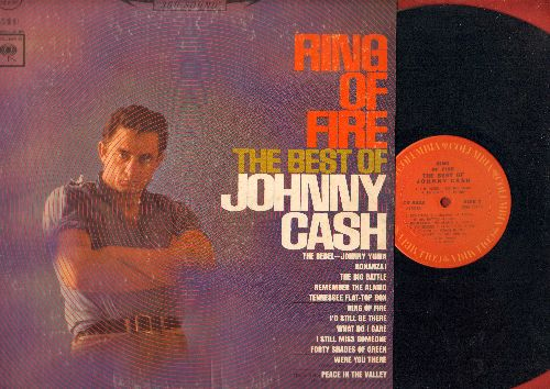 Cash, Johnny - Ring Of Fire - The Best Of Johnny Cash: Bonanza!, The Rebel Johnny Yuma, Remember The Alamo, Peace In The Valley (Vinyl STEREO LP record) - NM9/VG7 - LP Records