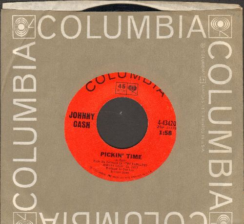 Cash, Johnny - Pickin' Time/Happy To Be With You (with vintage Columbia company sleeve) - NM9/ - 45 rpm Records