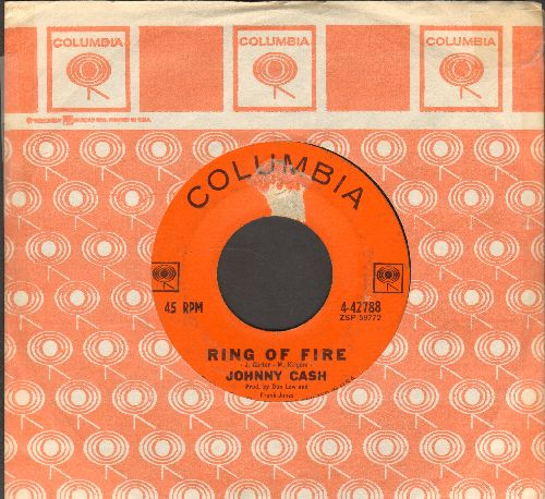 Cash, Johnny - Ring Of Fire/I'd Still Be There (with Columbia company sleeve) - VG7/ - 45 rpm Records