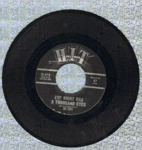 Cash, Joe - The Night Has A Thousand Eyes/Loop De Loop (by Herbert Hunter On Flip-side) (contemporary cover versions of Teen Idol hits) - EX8/ - 45 rpm Records