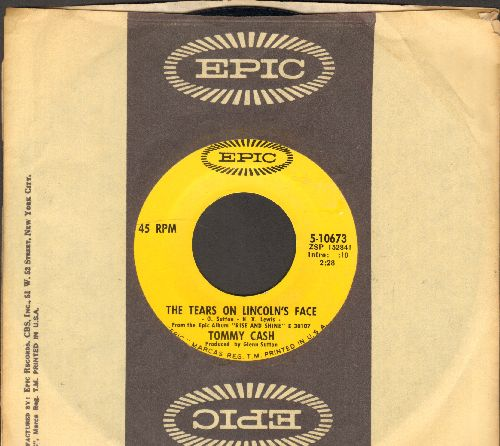 Cash, Tommy - The Tears On Lincoln's Face/The Only Place For Me (with Epic company sleeve) - NM9/ - 45 rpm Records