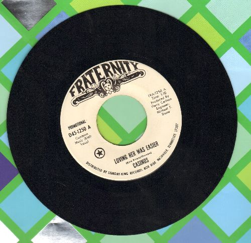 Casinos - Loving Her Was easier/A Restless Wind (DJ advance pressing) - NM9/ - 45 rpm Records