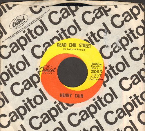 Cain, Henry - Dead End Street/The Way I Feel (with vintage Capitol company sleeve) - EX8/ - 45 rpm Records