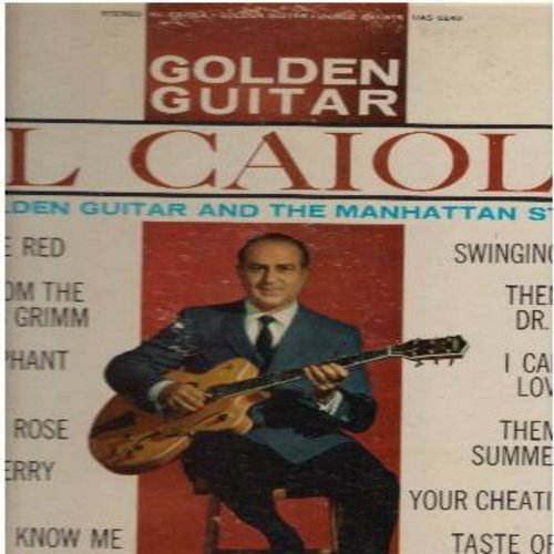 Caiola, Al - Golden Guitar: Theme From A Summr Place, Theme From Dr. Kildare, Baby Elephant Walk, I Can't Stop Loving You (Vinyl STEREO LP record) - NM9/VG7 - LP Records
