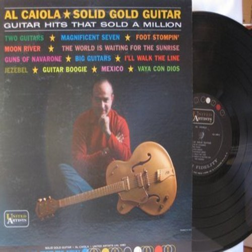 Caiola, Al - Solid Gold Guitar: Magnificent Seven, Foot Stompin', I'll Walk The Line, Moon River, Guns Of The Navarone (Vinyl MONO LP record) - NM9/EX8 - LP Records
