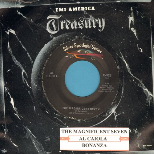 Caiola, Al & His Orchestra - The Magnificent Seven/Bonanza (re-issue with company sleeve and juke box label) - M10/ - 45 rpm Records