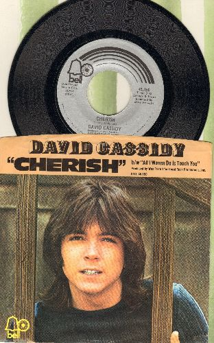 Cassidy, David - Cherish/All I Wanna Do Is Touch You (with picture sleeve) - NM9/VG7 - 45 rpm Records