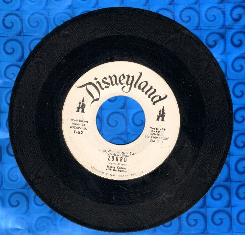Calvin, Henry & Orchestra & Chorus - Zorro/Garcia's Lament (DJ advance pressing) - NM9/ - 45 rpm Records