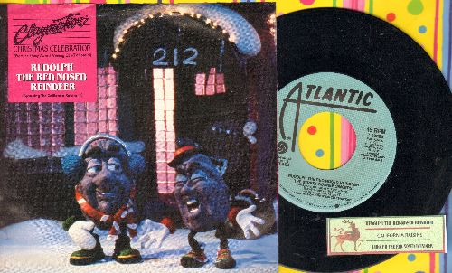 California Raisins - Rudolph The Red-Nosed Reindeer (double-A-sided DJ copy with juke box label and picture sleeve) - EX8/NM9 - 45 rpm Records
