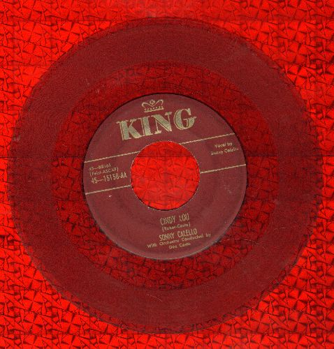 Callello, Sonny - Cindy Lou/The King (RARE 1952 Red Vinyl Pressing) - VG6/ - 45 rpm Records