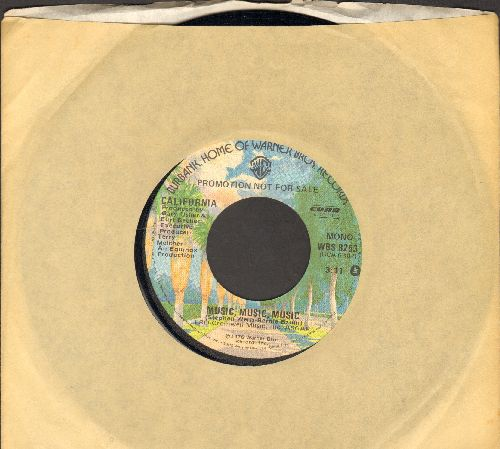 California - Music, Music, Music (Funky Disco-Version of the Teresa Brewer signature song!)(double-A-sided DJ advance pressing with Warner Brothers company sleeve) - NM9/ - 45 rpm Records