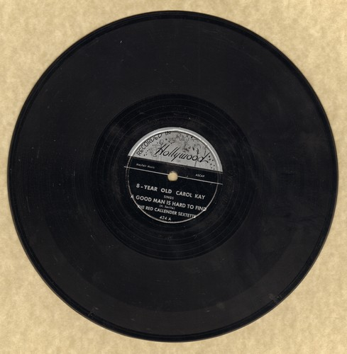 Kay, Carol - A Good Man Is Hard To Find/You Can't Do The Boogie In School (8 Year Old with DYNAMITE voice! - RARE 78 rpm record) - EX8/ - 78 rpm