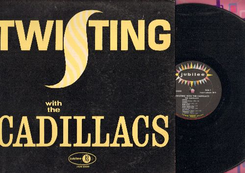 Cadillacs - Twisting With The Cadillacs: Speedo, It's Love, Peek-A-Boo, Still You Left Me Baby, My Girl Friend (vinyl MONO LP record) - EX8/EX8 - LP Records