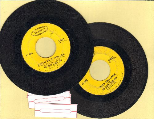 Clark, Dave Five - 2 for 1 Special: Catch Us If You Can/Over And Over (2 vintage first issue 45rpm records for the price of 1! - Shipped in plain paper sleeves with 3 blank juke box labels) - VG7/ - 45 rpm Records