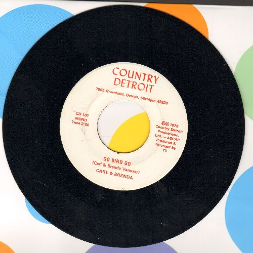 Carl & Brenda - Go Bird Go (double-A-sided DJ advance pressing with MONO and STEREO version) - NM9/ - 45 rpm Records