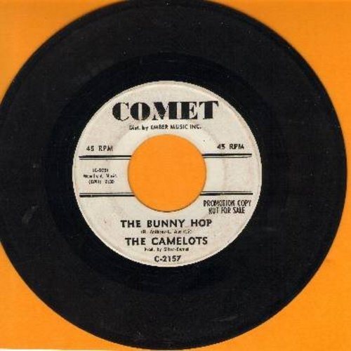 Camelots - The Bunny Hop (1960s Jazz Instrumental version of the Dance Craze Favorite - double-A-sided DJ advance pressing) - EX8/ - 45 rpm Records