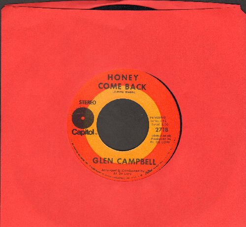 Campbell, Glen - Honey Come Back/Where Do You Go - NM9/ - 45 rpm Records
