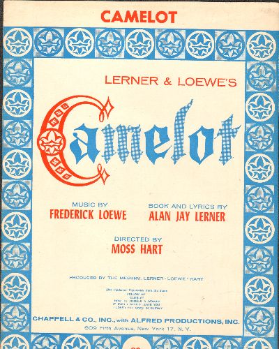 Lerner & Loewe - Camelot - Vintage SHEET MUSIC for the title song from the Broadway Hit -Camelot- - EX8/ - Sheet Music