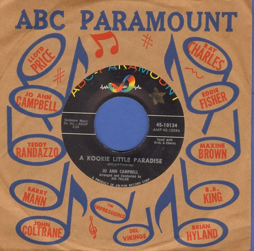 Campbell, Jo Ann - A Kookie Little Paradise/Bobby, Bobby, Bobby (with ABC-Paramount company sleeve) - EX8/ - 45 rpm Records