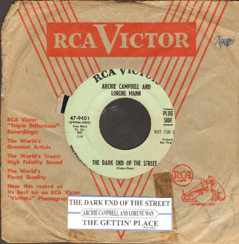 Campbell, Archie & Lorene Mann - The Dark End Of The Street/The Getting' Place (DJ advance pressing with juke box label) - EX8/ - 45 rpm Records